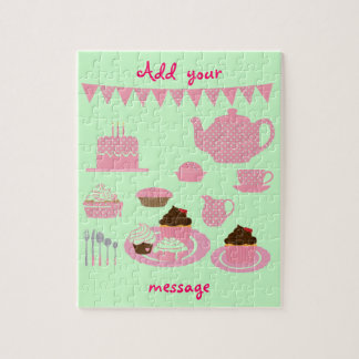 """Tea- och muffins"" pussel"