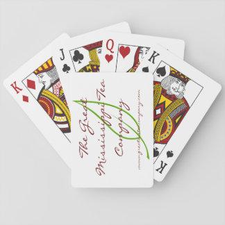 Tea som leker kort spelkort