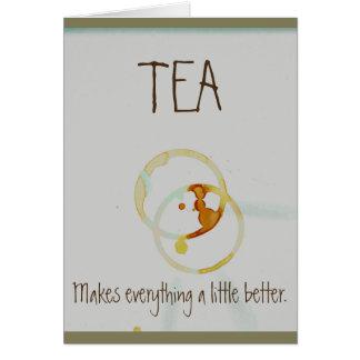Tea & sympati hälsningskort