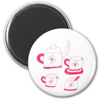 Tea Time knäppas magneten Magnet