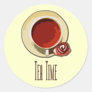 Tea Time Runt Klistermärke