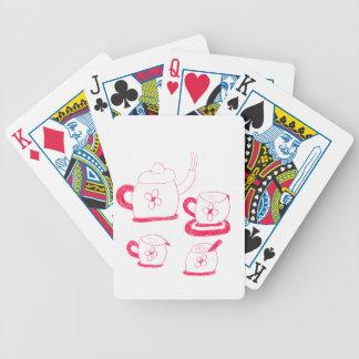Tea Time som leker kort Spelkort