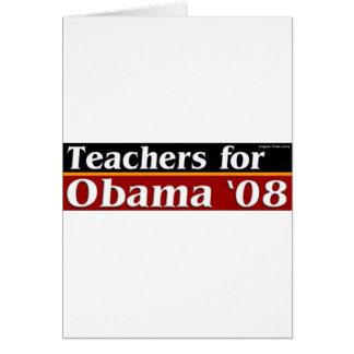 TeachersForObama Hälsningskort