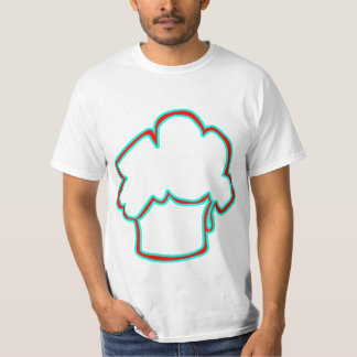 TEAL--REDMUFFIN TEE SHIRTS