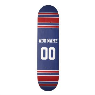 Team Jersey med anpassningsbarnamn och numrera Old School Skateboard Bräda 18 Cm