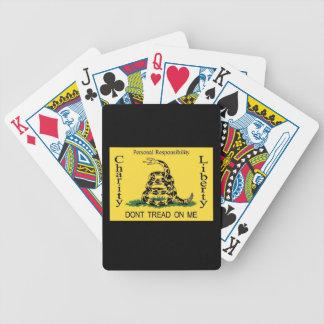 Teaparty som leker kort,    går inte på mig spelkort