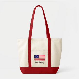 Teapartyamerikanska flaggan impulse tygkasse