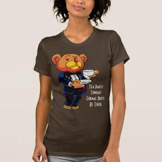 Teapartyinbjudan - skjorta tröjor
