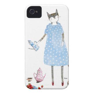 Teapartykatt i en Karen fotgängareklänning iPhone 4 Case