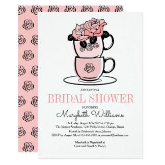 Teatekoppen blommar inbjudningskort för 12,7 x 17,8 cm inbjudningskort