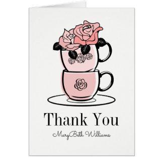 Teatekoppen blommar tackkortet hälsningskort