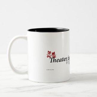 Teatern är för Eveyone kaffemugg