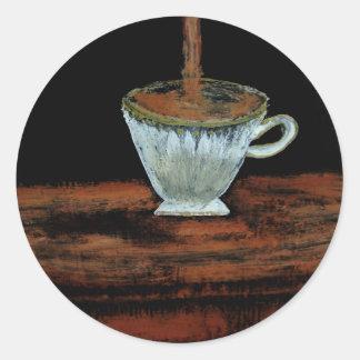 Teatime Runda Klistermärken
