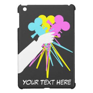 Technicolorkärlekbukett av filmkameror för iPad iPad Mini Mobil Skal