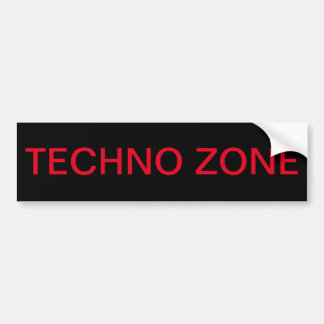 Techno zon, technoriskzon bildekal