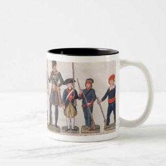 Tecken av den franska revolutionen Två-Tonad mugg