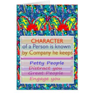 Tecken av en person… hälsningskort