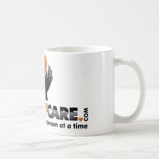 Tecken av omsorgmuggar kaffemugg