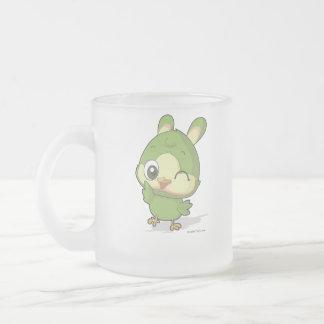 Tecken för anime för tecknad för gullig fågel för frostad glasmugg
