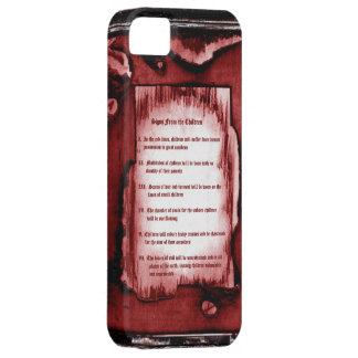 Tecken från barnen iPhone 5 cases