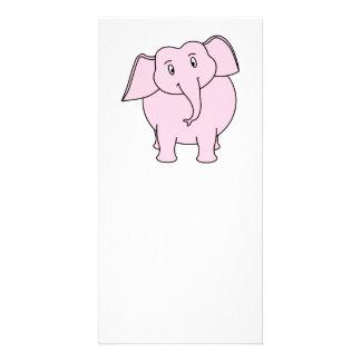 Tecknad av en rosa elefant fotokort