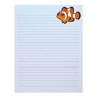 Tecknad Clownfish Brevhuvud