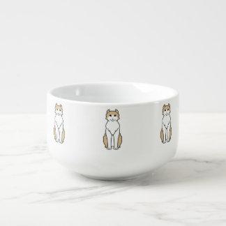 Tecknad för amerikankrullningskatt stor kopp för soppa
