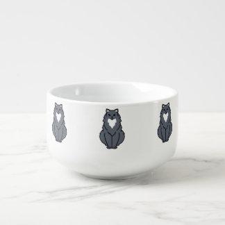 Tecknad för amerikanlånghårigkatt kopp för soppa
