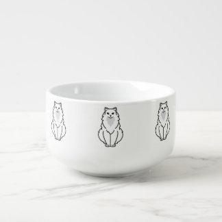 Tecknad för amerikanlånghårigkatt stor kopp för soppa