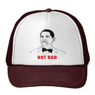 Tecknad för ansikte för ursinne för Obama inte dål Baseball Hat