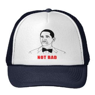 Tecknad för ansikte för ursinne för Obama inte dål Mesh Kepsar