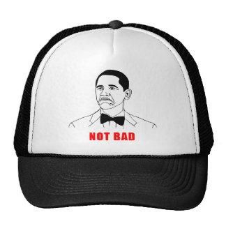 Tecknad för ansikte för ursinne för Obama inte dål Kepsar
