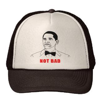 Tecknad för ansikte för ursinne för Obama inte dål Trucker Kepsar