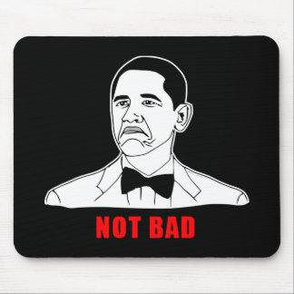 Tecknad för ansikte för ursinne för Obama inte dål Mus Mattor
