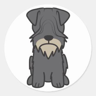 Tecknad för Cesky Terrierhund Runt Klistermärke