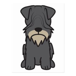 Tecknad för Cesky Terrierhund Vykort
