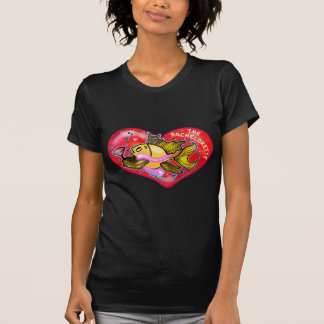 Tecknad för fisk för Bachelorette möhippa rolig Tee Shirt