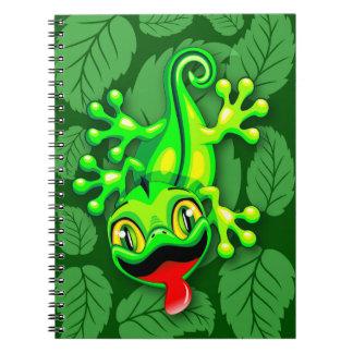 Tecknad för Geckoödlababy Anteckningsbok Med Spiral