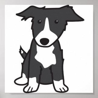 Tecknad för gränsColliehund Poster
