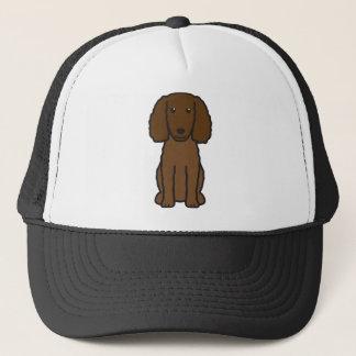 Tecknad för hund för amerikanvattenSpaniel Truckerkeps