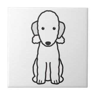 Tecknad för hund för Bedlington Terrier Kakelplatta