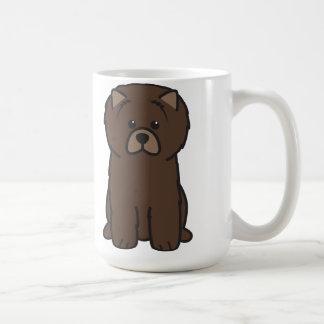 Tecknad för hund för ChowChow Kaffemugg