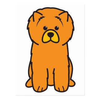 Tecknad för hund för ChowChow Vykort