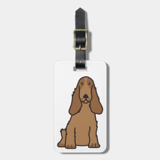 Tecknad för hund för engelskacockerspanielSpaniel Bagagebricka
