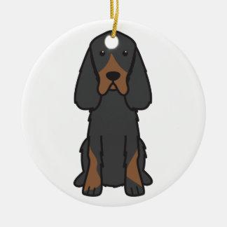 Tecknad för hund för Gordon Setter Julgransprydnad Keramik