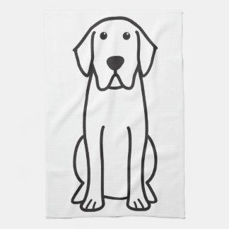Tecknad för hund för Labrador Retriever Kökshandduk
