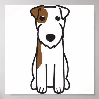Tecknad för hund för ParsonRussell Terrier Poster