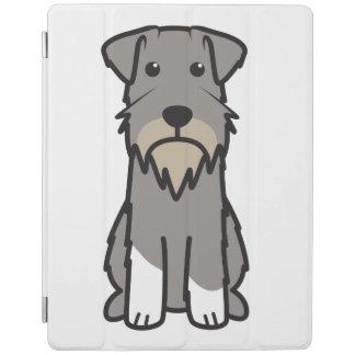 Tecknad för miniatyrSchnauzerhund iPad Skydd