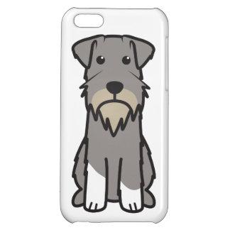 Tecknad för miniatyrSchnauzerhund iPhone 5C Mobil Skydd