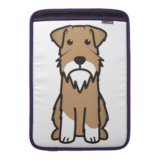 Tecknad för miniatyrSchnauzerhund MacBook Sleeve